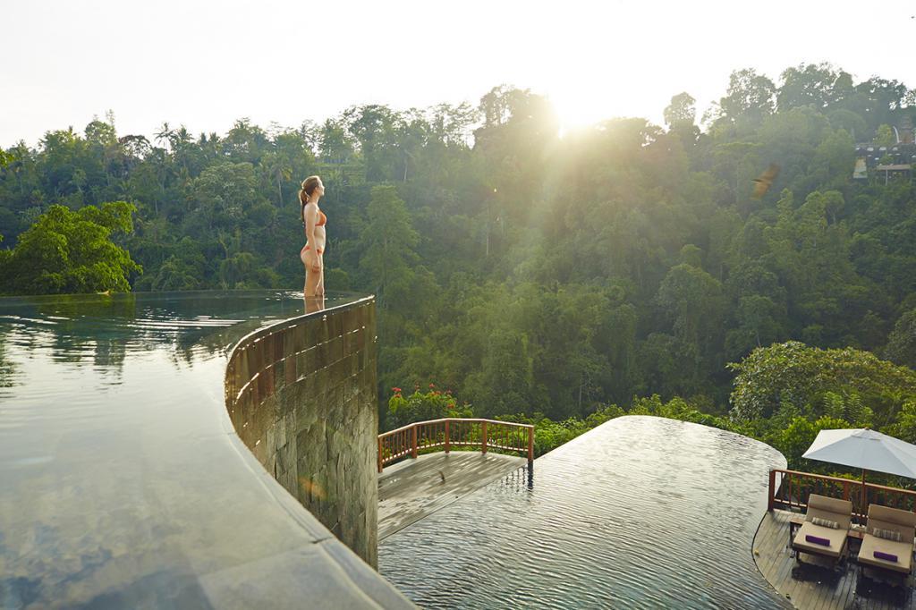 Состоящий из нескольких вилл, выполненных в традиционном балийском стиле, отель Ubud Hanging Gar
