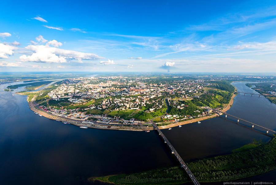 27. Протяжённость города вдоль Оки — 20 км, вдоль Волги — около 30 км. Всего в Нижнем Новгороде пост