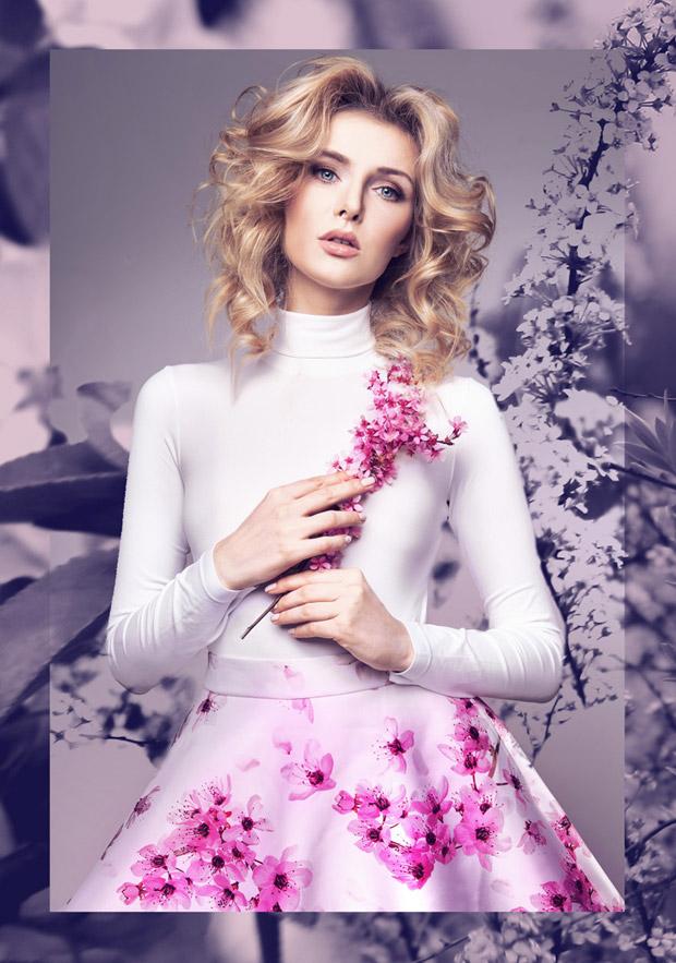 Julia Majdanska in Pure Flower by Marta Macha