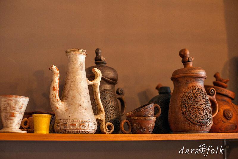 Тёплая керамическая посуда ручной работы.