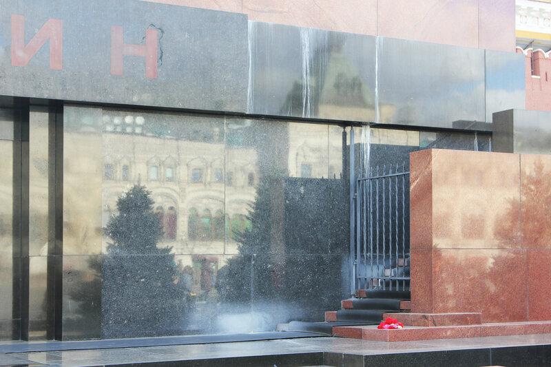 Состояние мавзолея В.И. Ленина на Красной площади после реконструкции.
