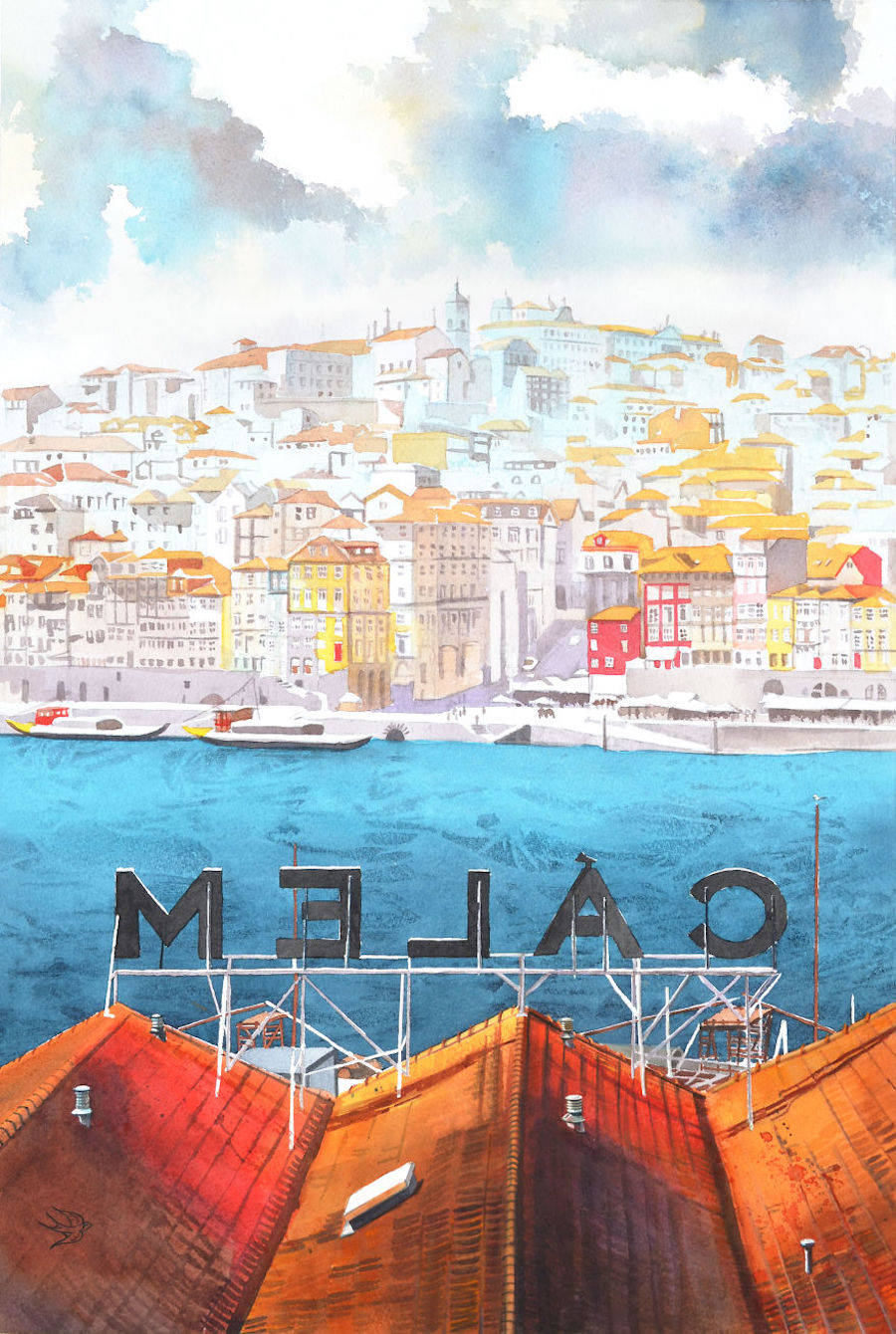 Stunning Watercolors of Portugal