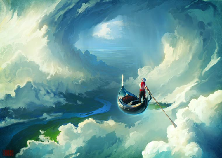Beautiful World - The poetic and surreal illustrations by RHADS