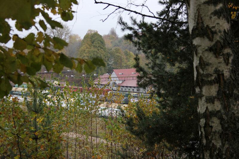 Здание станции Себеж, вид с холма