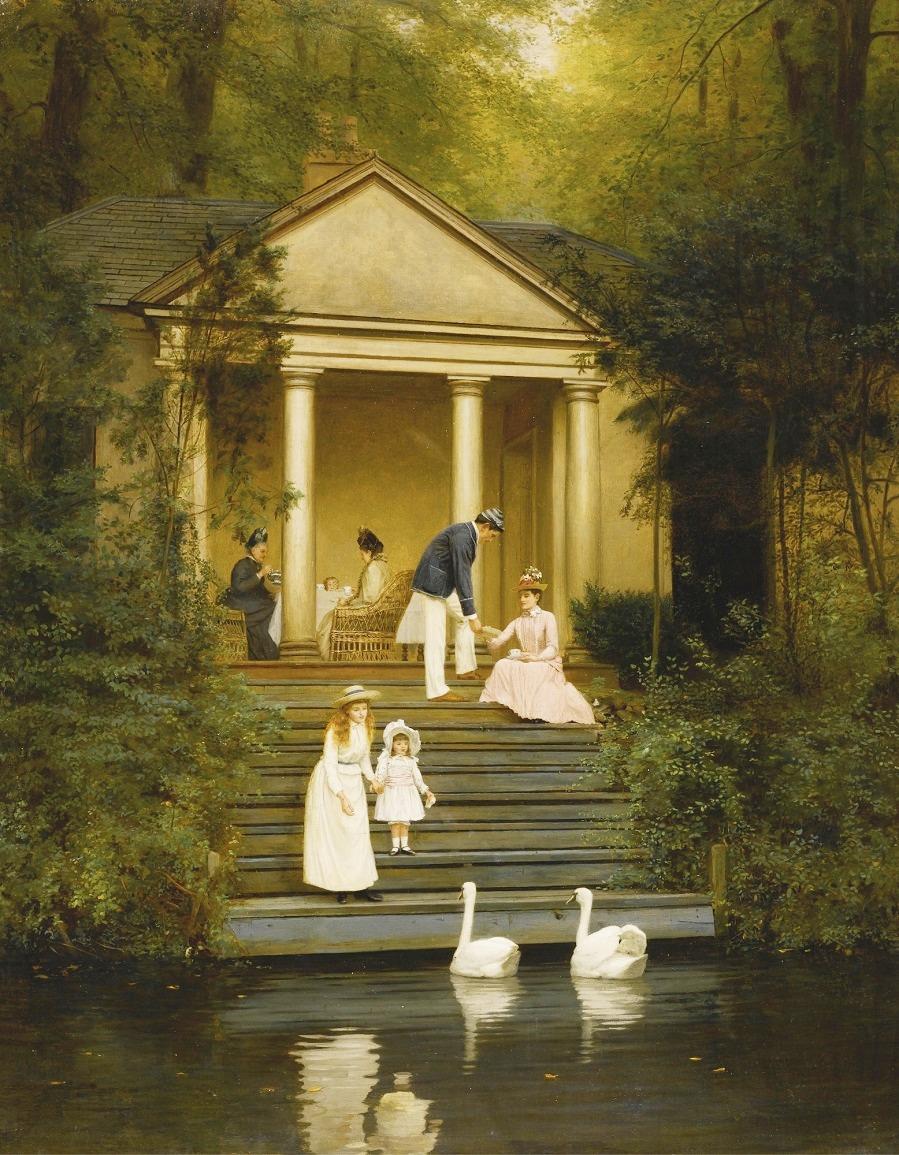 Feeding the swans, 1889..jpg