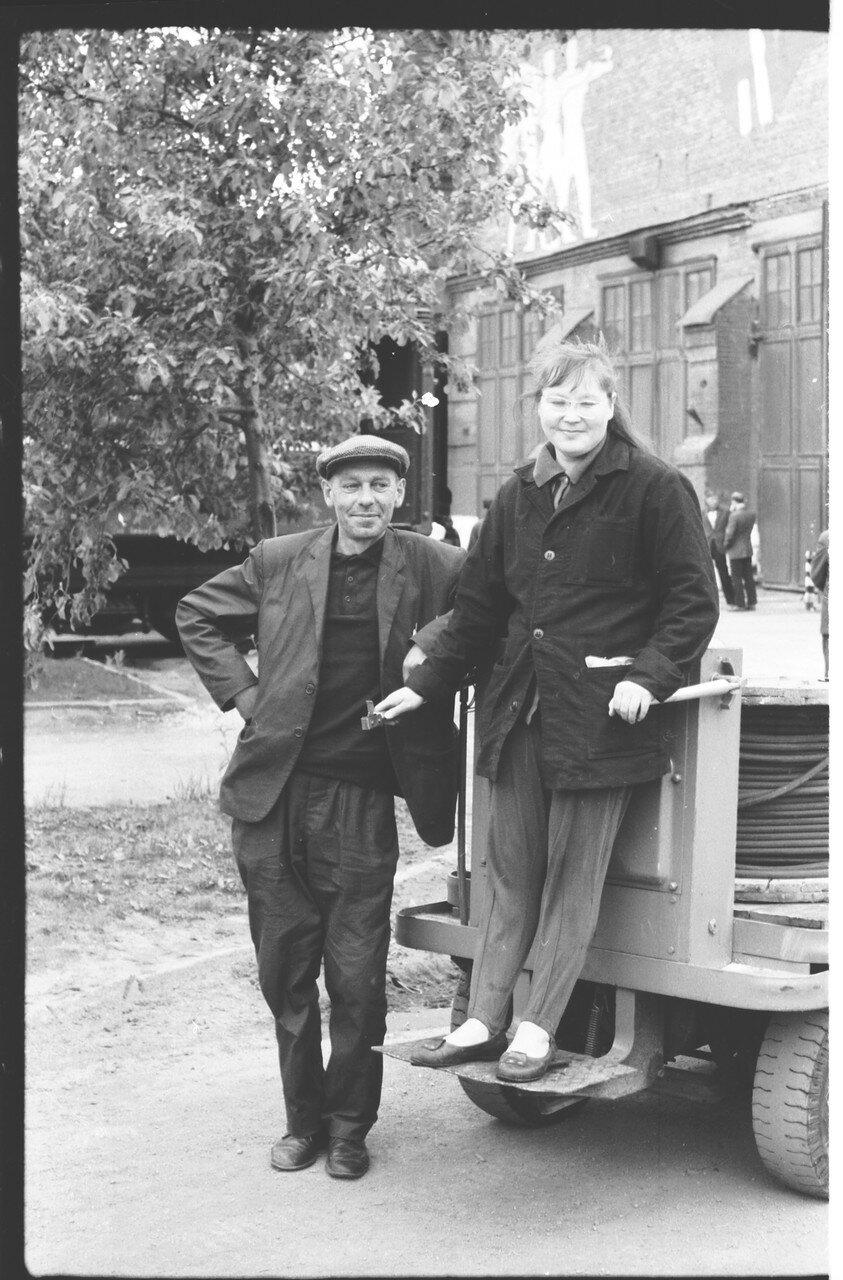 1970-е. Работники вагонного участка ВЧД Челябинск