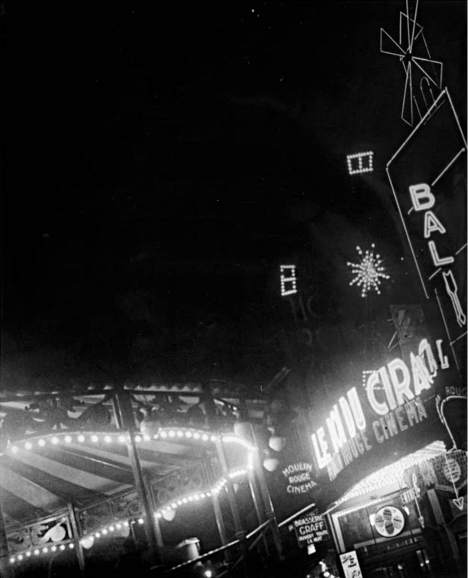 1930. Кино Мулен Руж Монмартр
