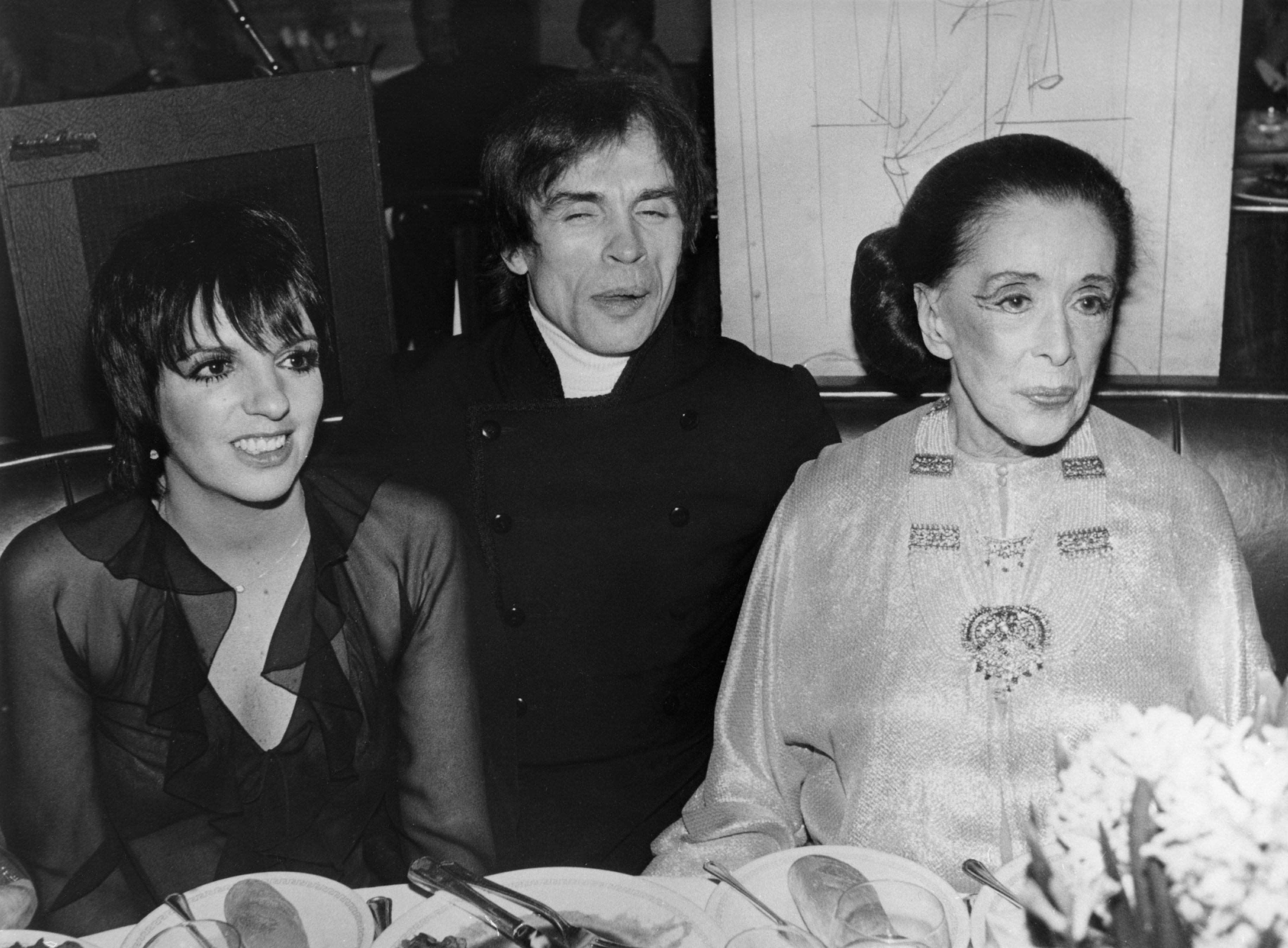 Liza MINNELLI, Rudolf NUREJEW und Martha GRAHAM, undatiert