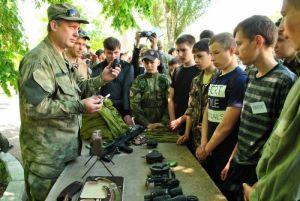Юношество ПС проходит патриотическо-военное обучение