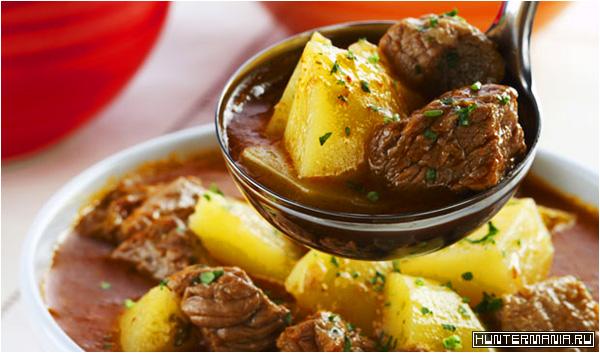 Тушеная говядина с картошкой в мультиварке (рецепт)