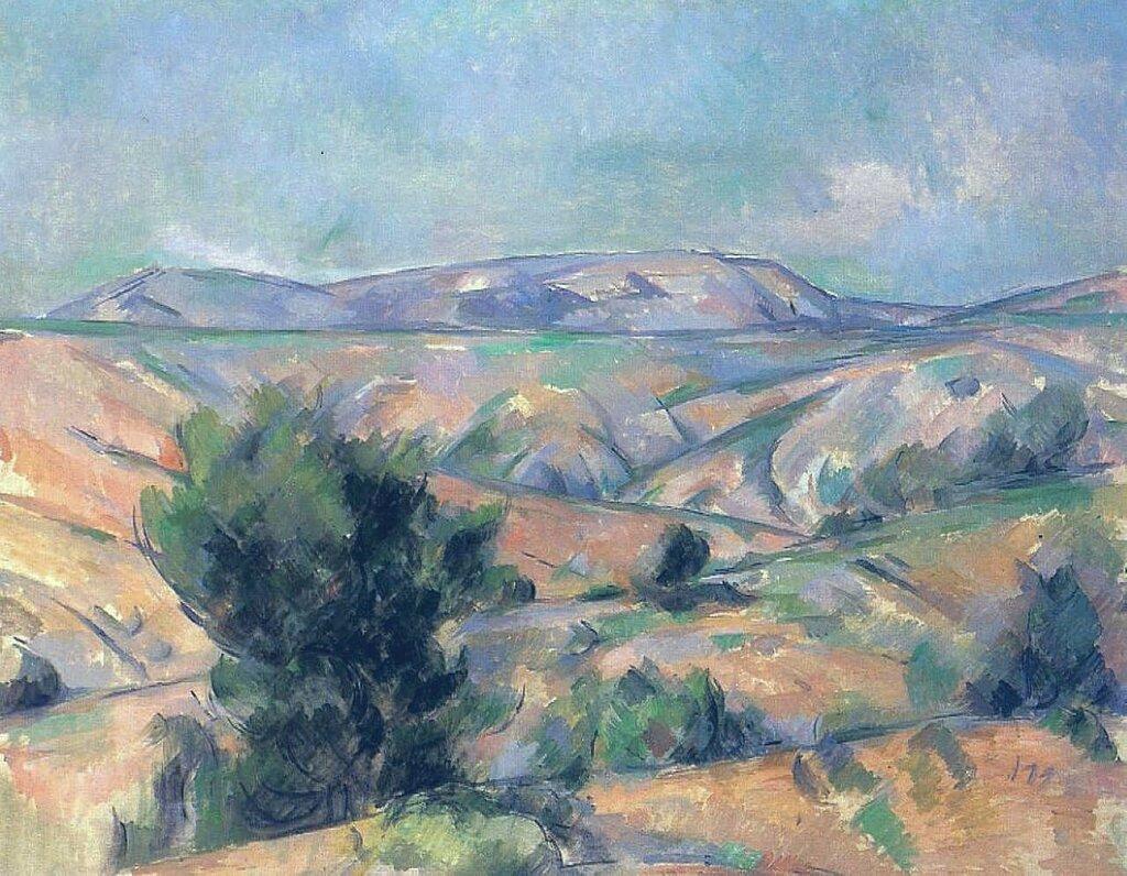 Mount Sainte-Victoire Seen from Gardanne, 1885-86.jpeg