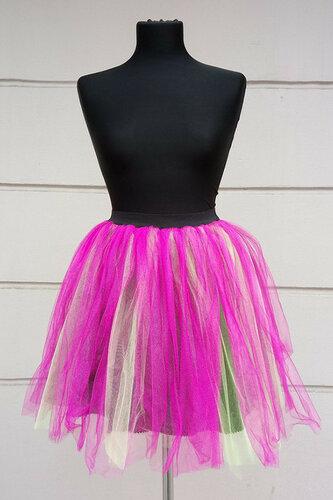 Женский карнавальный костюм Юбка Бело-розовая