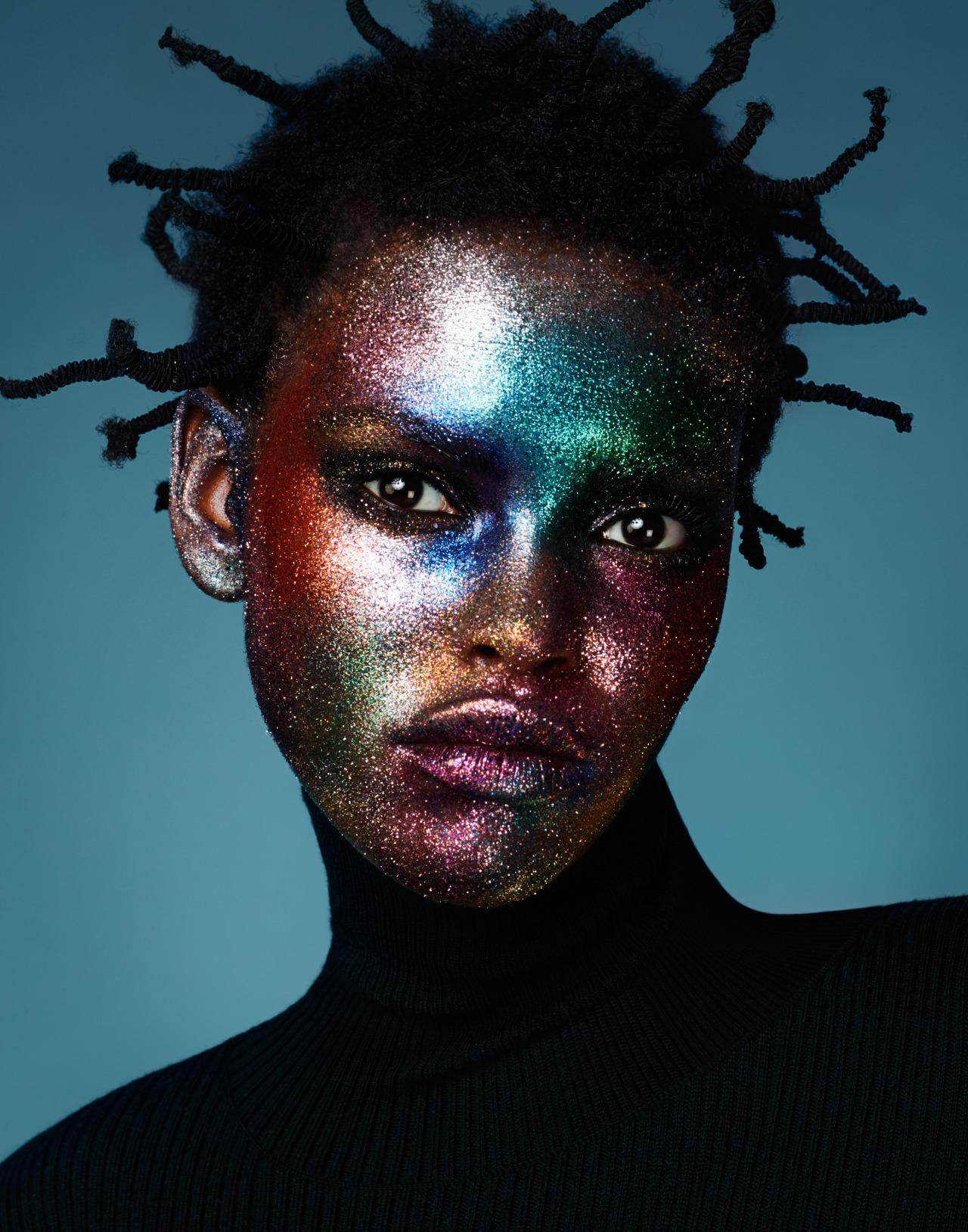 Glitter Bomb for Models.com July 2016 / Amilna Estevao by Jason Kim