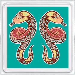 Магнит сувенирный Знак Зодиака Близнецы