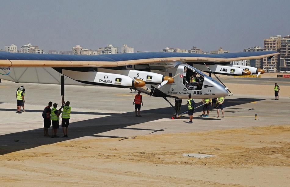 Заключительным участком маршрута стал перелет Solar Impulse 2 из Каира в Абу-Даби. Это расстояние пи