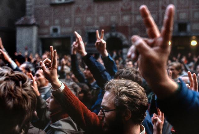 Варшава, сторонники «Солидарности», 1982 год.