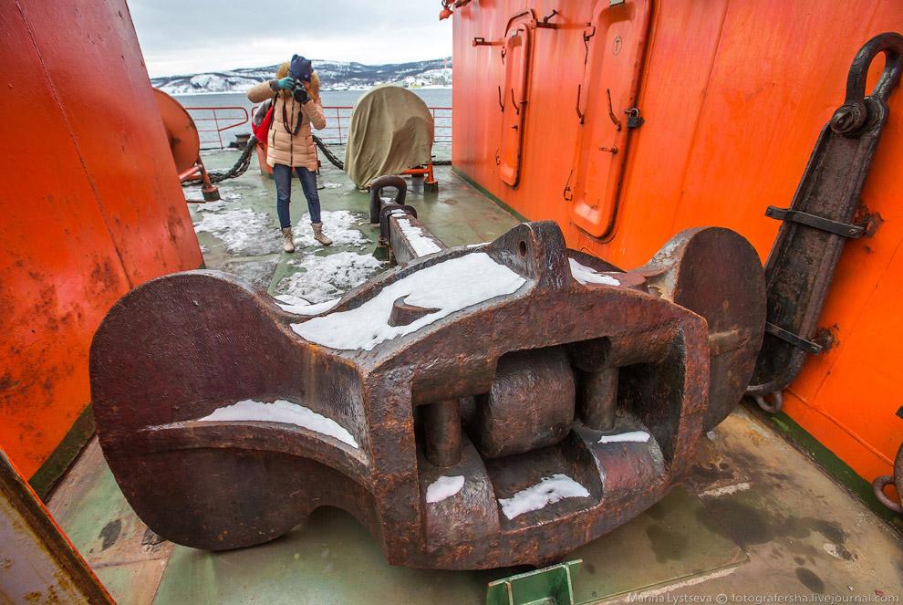 27. Помимо основной задачи по проводке караванов в арктических морях, он еще и возит туристов н