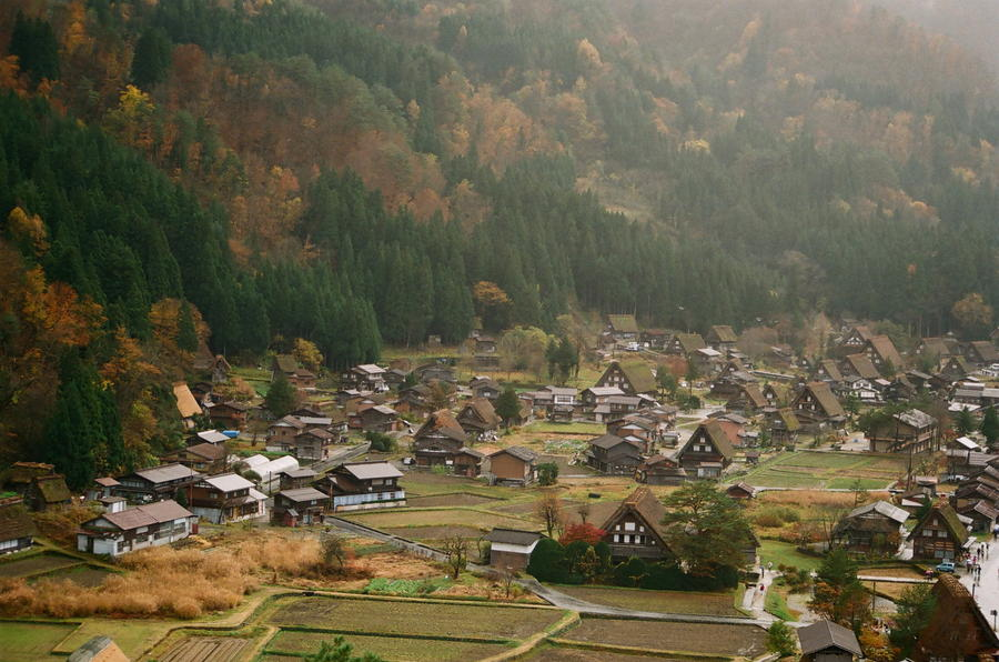 11. Уютная деревня Сиракава, Япония.