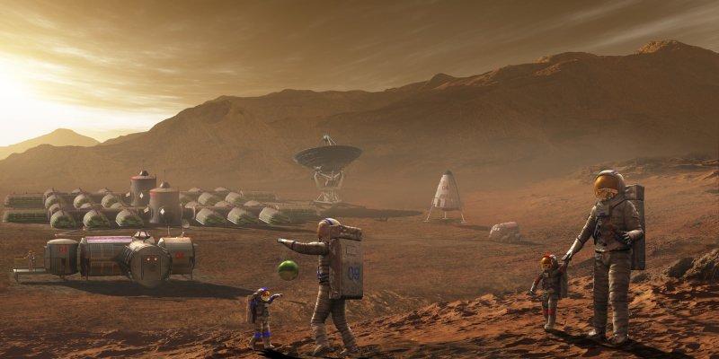 НАСА: Колонизация Марса начнется через 20 лет