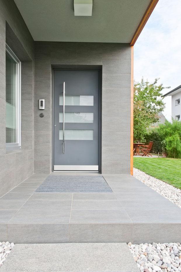 Modern Luxe Make a statement with your entrance with a modern futuristic style front door. Clean cut