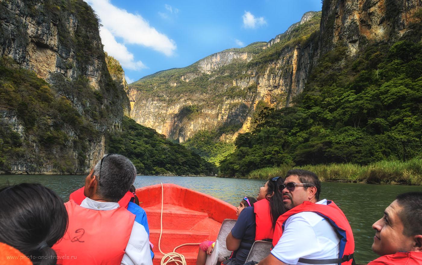 Фотография 11. Отзывы туристов о лодочной прогулке по Каньону Сумидеро (Cañón del Sumidero) в Мексике.  Отдых самостоятельно. 1/100, 11, 18, 200.