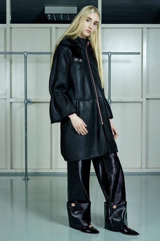 Osma кожаное пальто на молнии