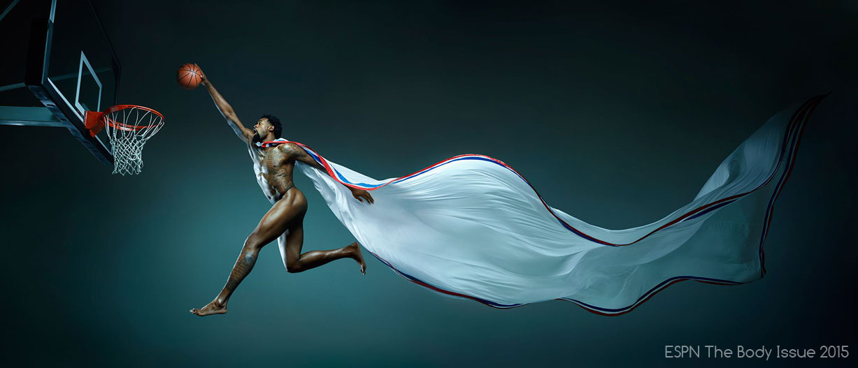 ESPN Magazine The Body Issue 2015 - DeAndre Jordan / ДеАндре Джордан - Культ тела журнала ESPN