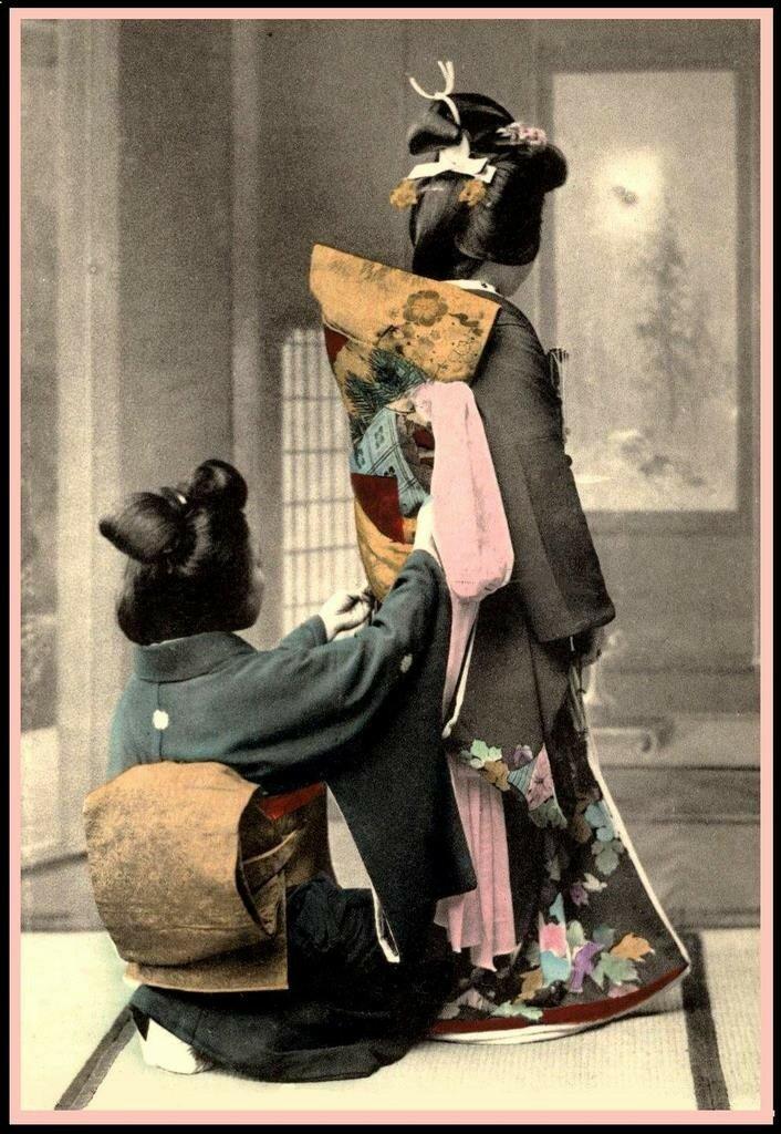 Завязывание кимоно невесты