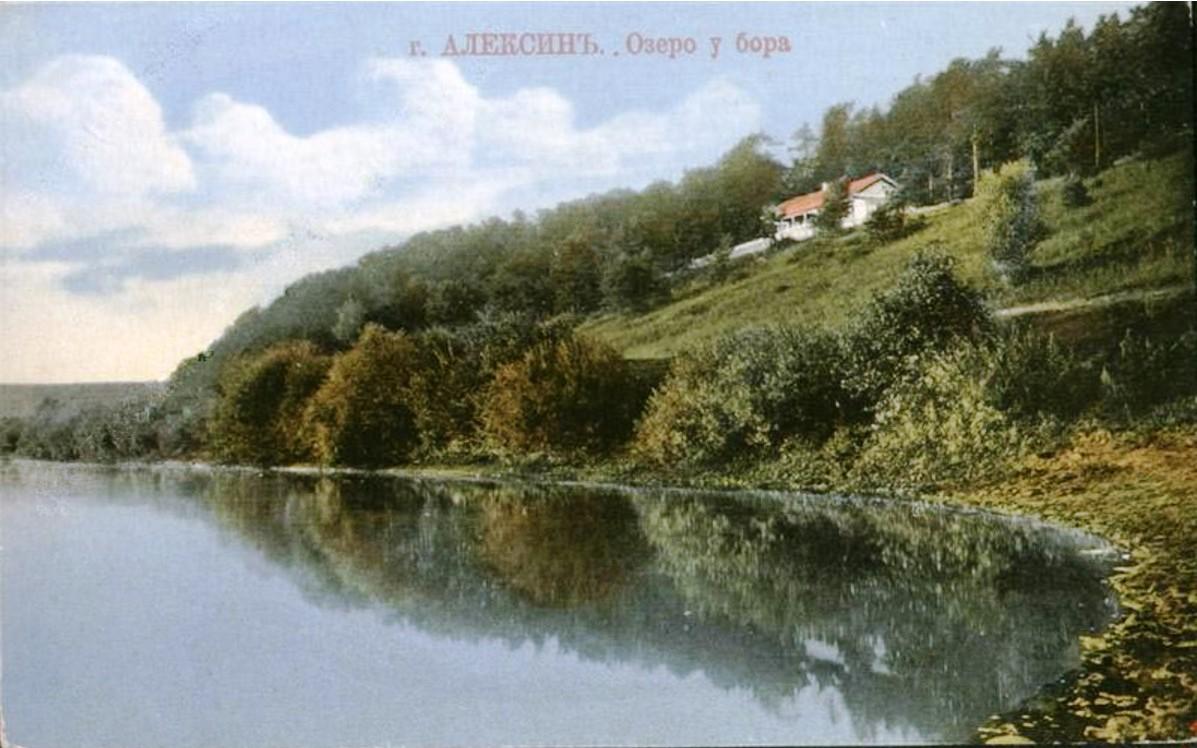 Окрестности Алексина. Озеро у бора