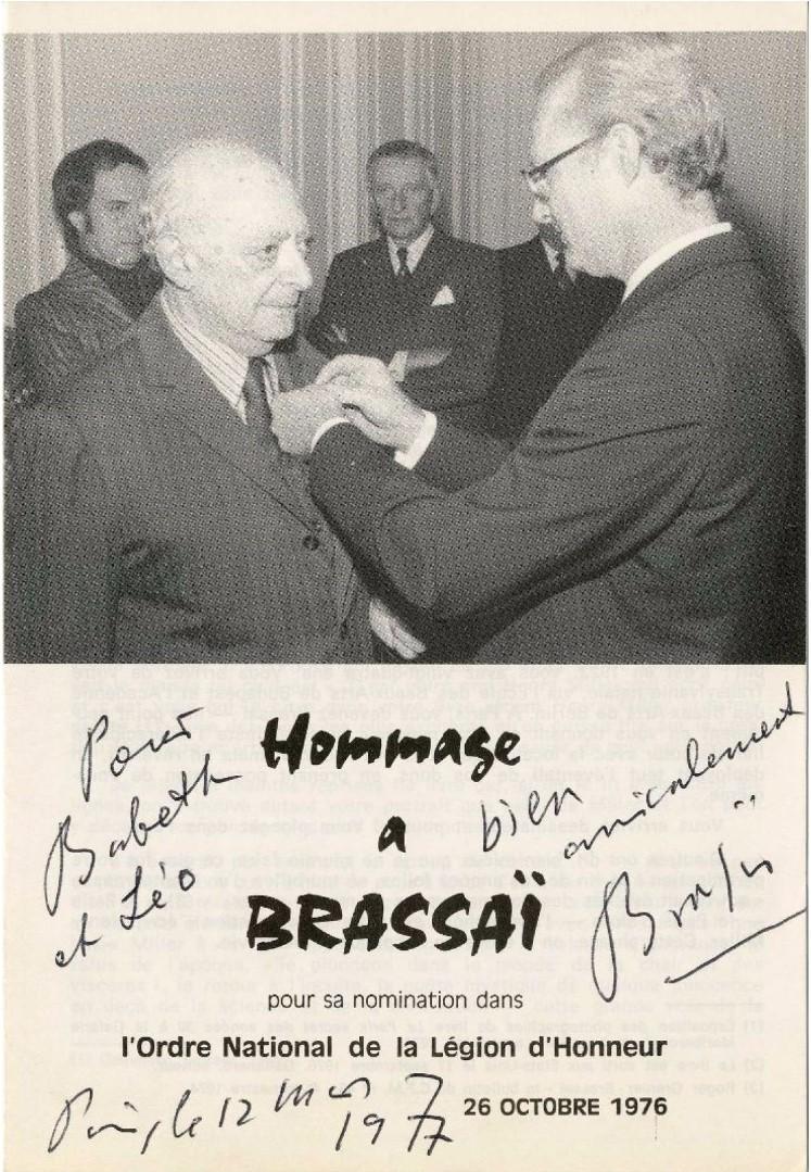 1976. Награждение Брассая орденом Почетного легиона, 26 октября.