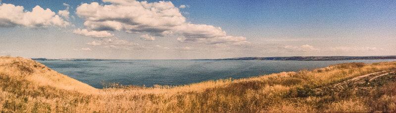 Вид с поселения Стрелка-2 - реконструкция ландшафта V в. до н.э.