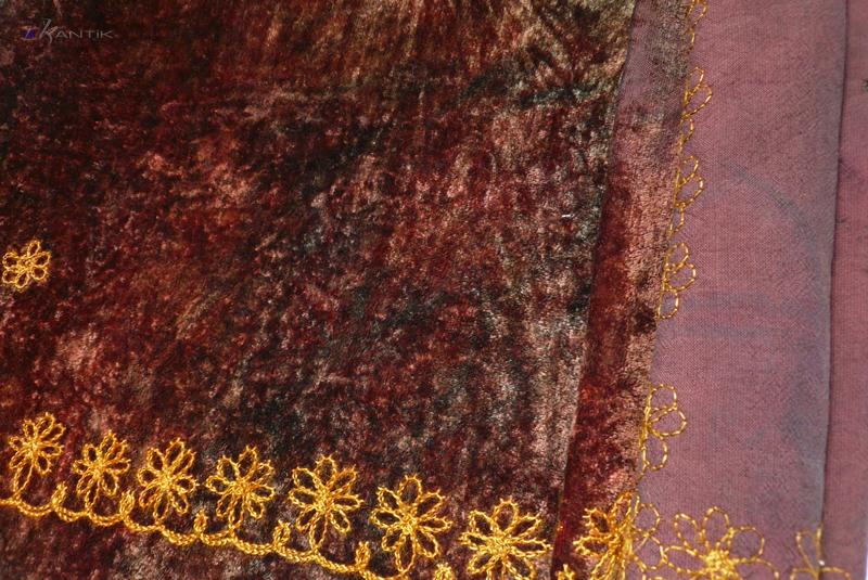 Винтажный материал для рукоделия ткани плюш