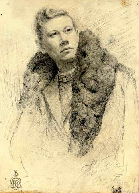 Репин И.Е. Портрет Федора Шаляпина 1882