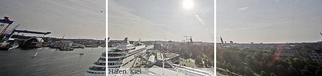 Порту Киль с веб-камер лайнера AIDA VITA