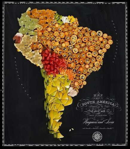 Карта мира из еды