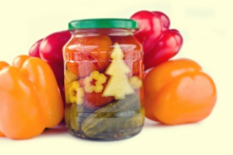 Вкусное овощное ассорти для консервации