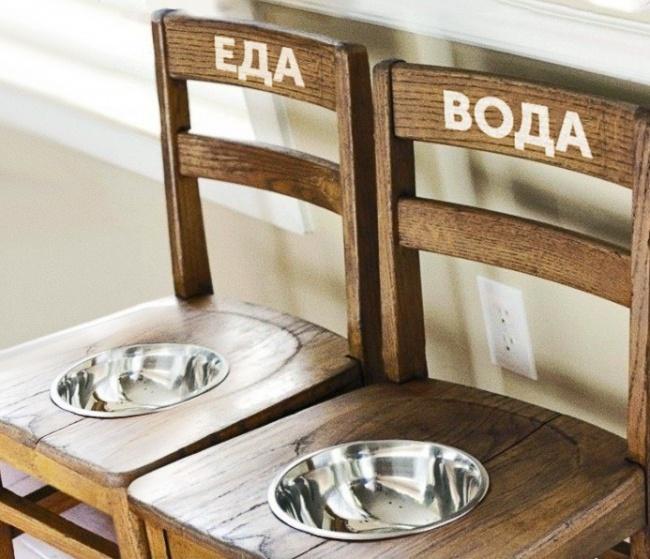 Для создания такой очаровательной кормушки вам понадобится лишь пара старых стульев инемного вообра