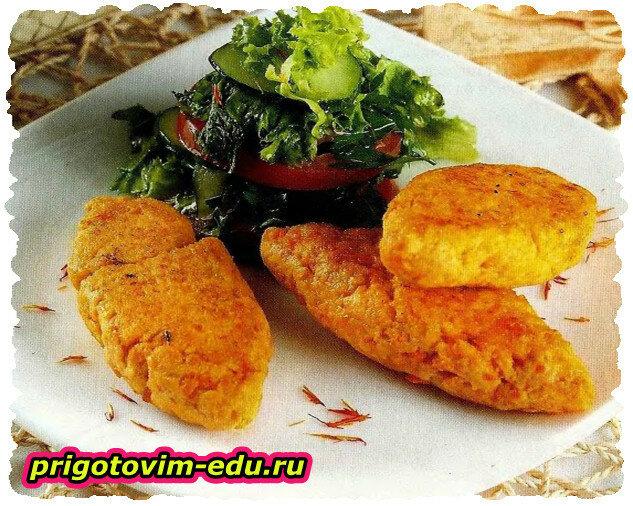 Котлеты куриные с овощами