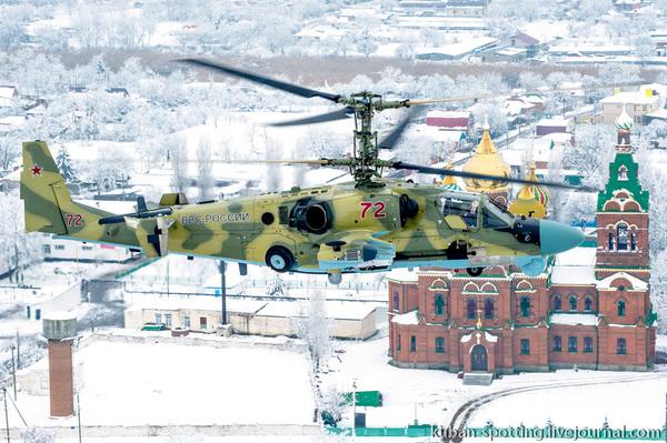 Кореновск. Ка-52. Подготовка к вылету.