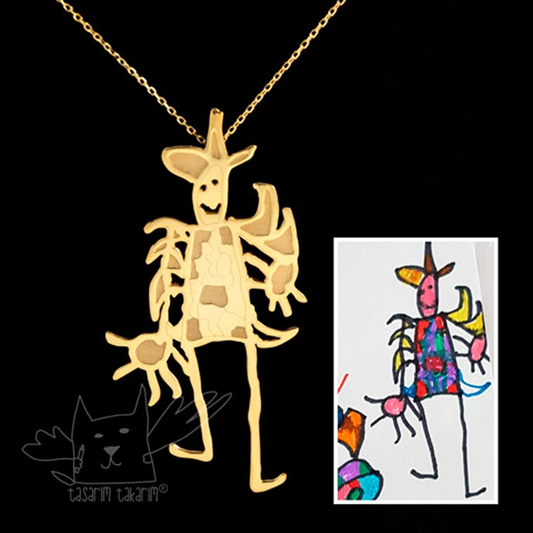 Turn your children's drawings into jewelry