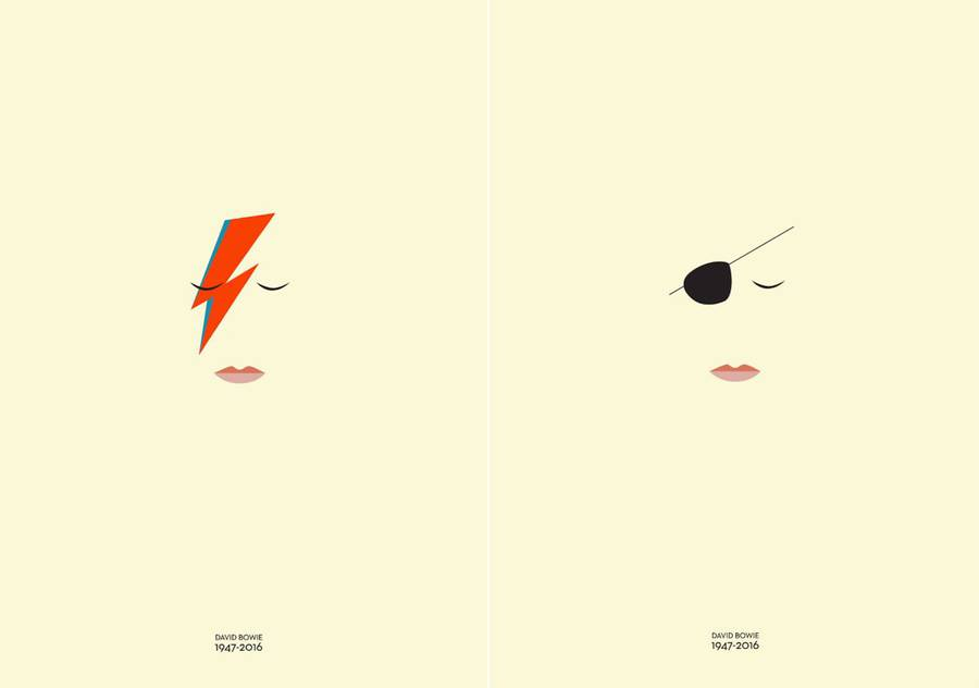 Minimal Posters in Tribute to David Bowie