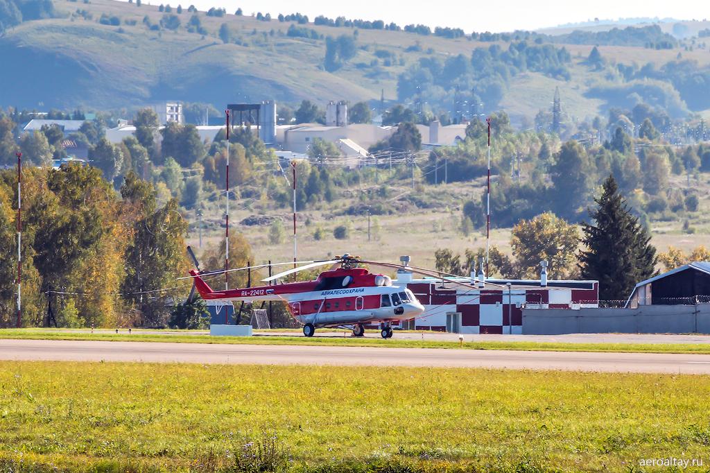 Вертолет Ми-8 Алтайской авиалесоохраны RA-22412
