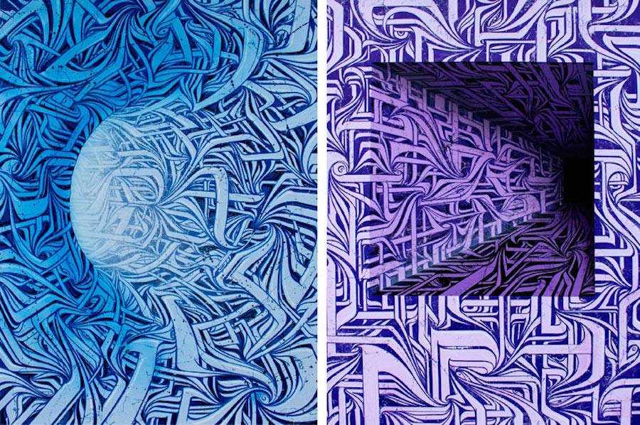 Abstract & Psychedelic Murals by Astro