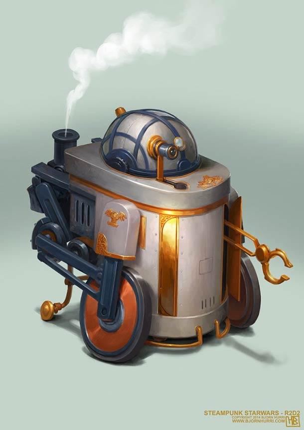 Star Wars Steampunk – Nouvelle selection des superbes illustrations de Bjorn Hurri