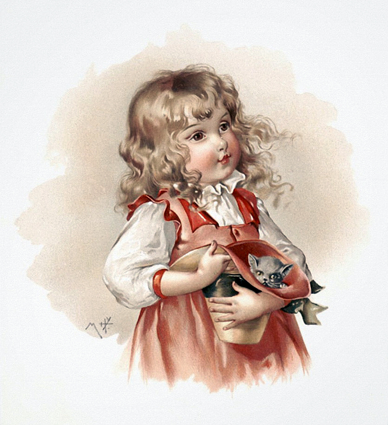 Девочка с куклой открытка 14