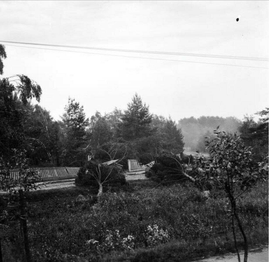 1904. Вешняки. Дача Горошкина после урагана 16 июня