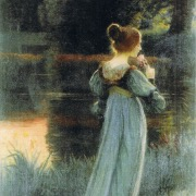 Девушка на картине