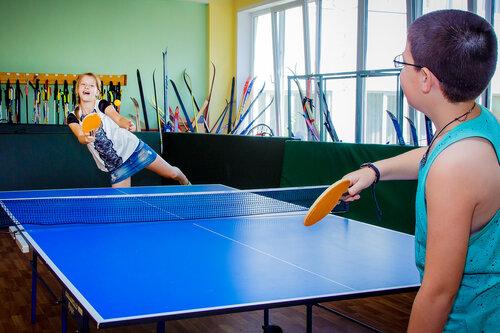 Секция настольного тенниса в летнем лагере 2016