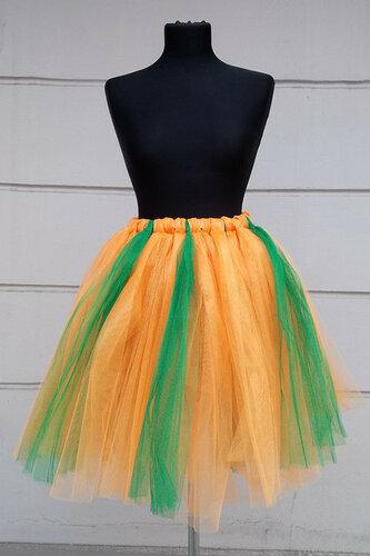 Женский карнавальный костюм Юбка желто-зеленая