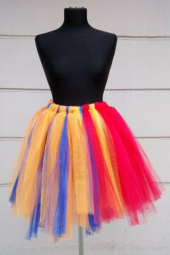 Женский карнавальный костюм Юбка радуга